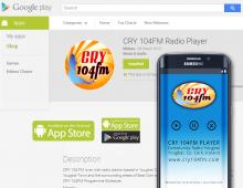 CRY 104FM Radio Player App